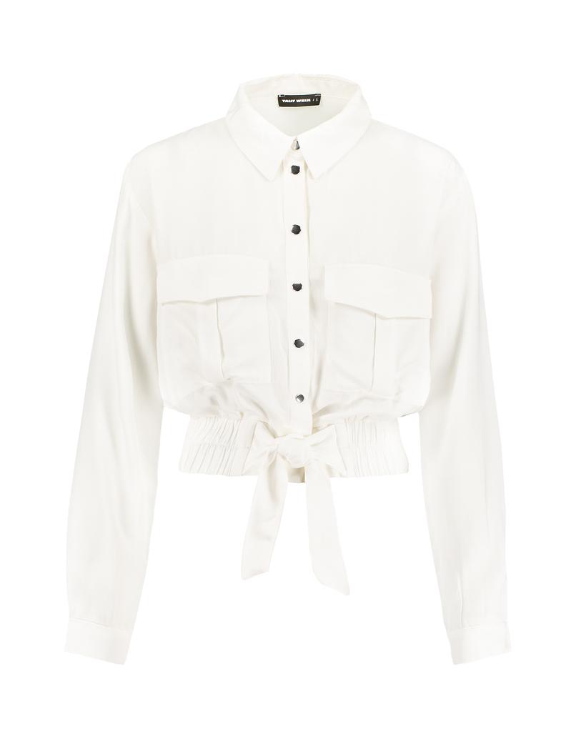 Weißes, kurzes Hemd
