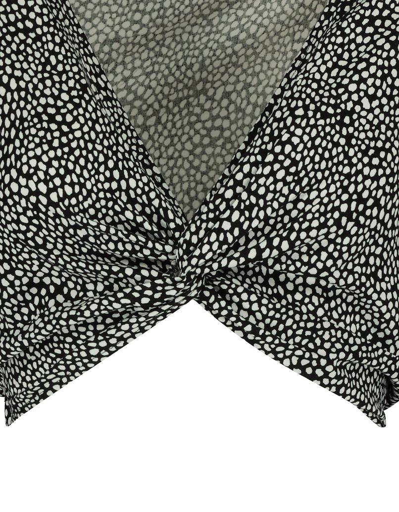 Polka Dots Knot Blouse