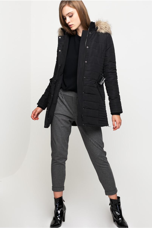 Belted Parka Coat