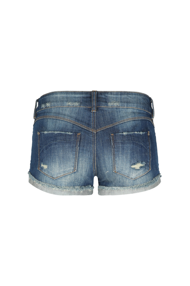 Low Waist Denim Shorts