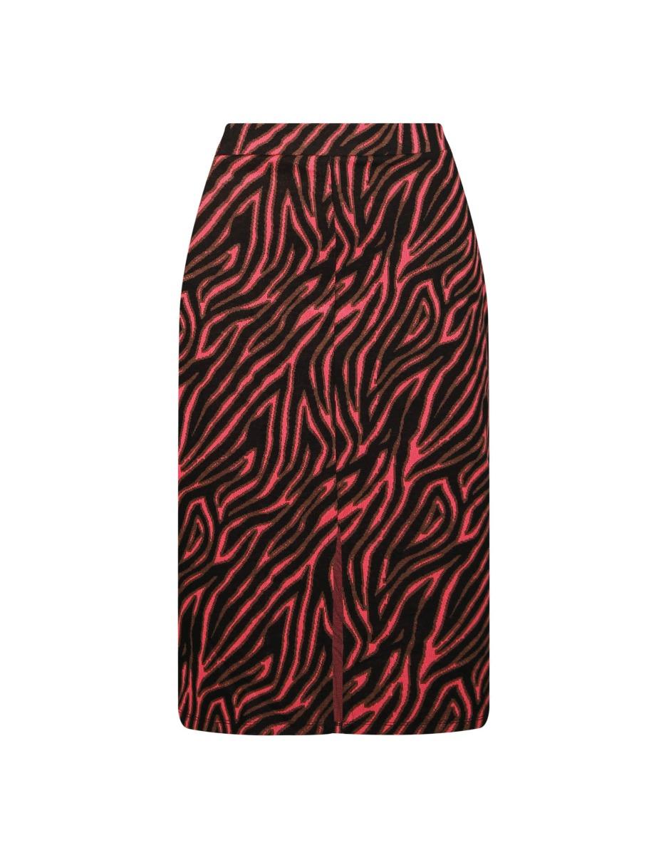 Neon Pink Zebra Skirt
