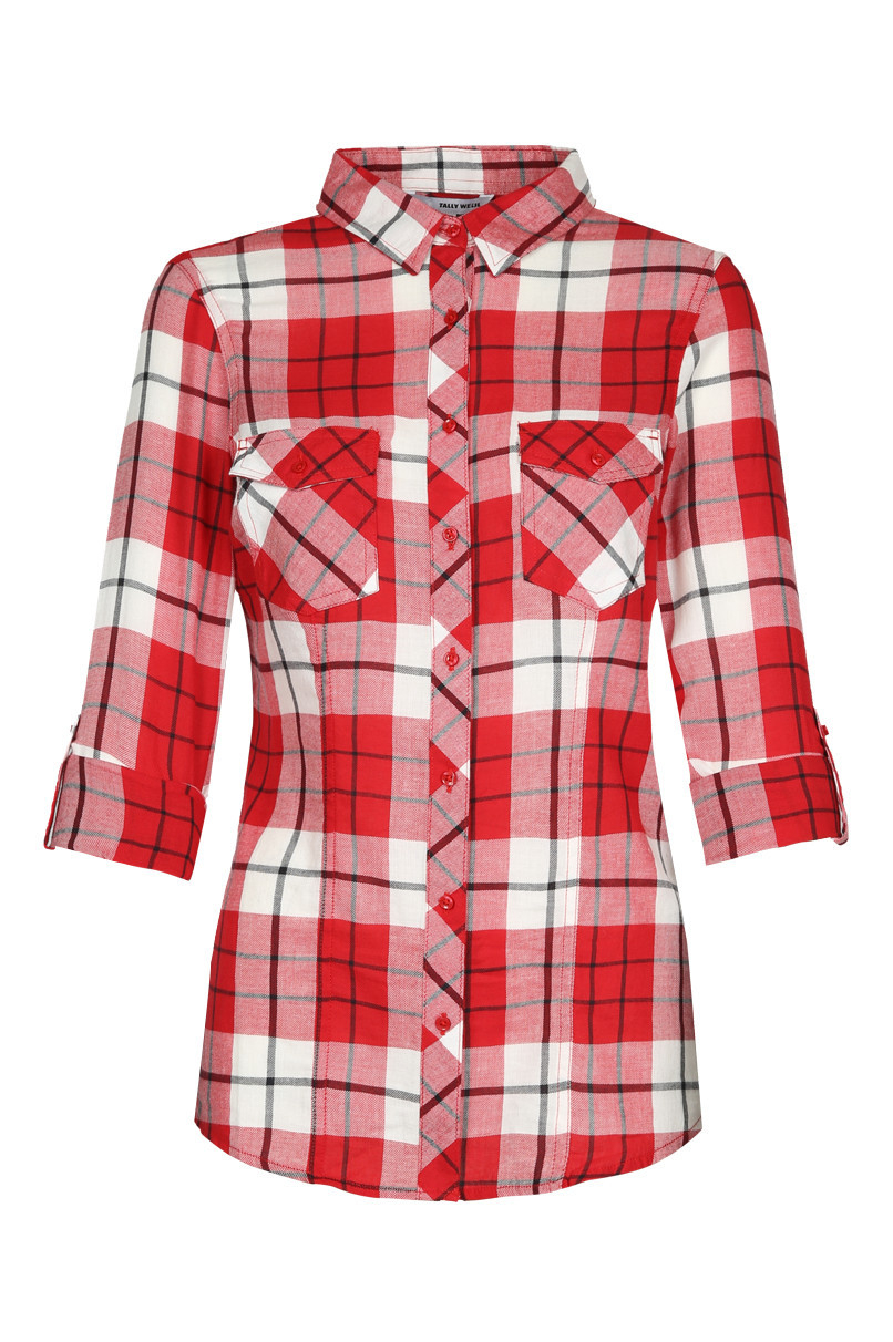 Red and White Checkered Shirt