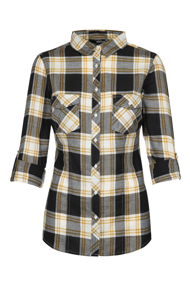 Black and Yellow Check Shirt