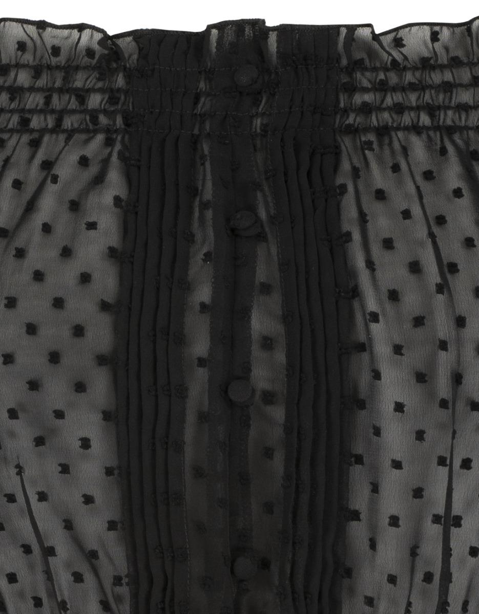 Blouse Noire en Plumetis