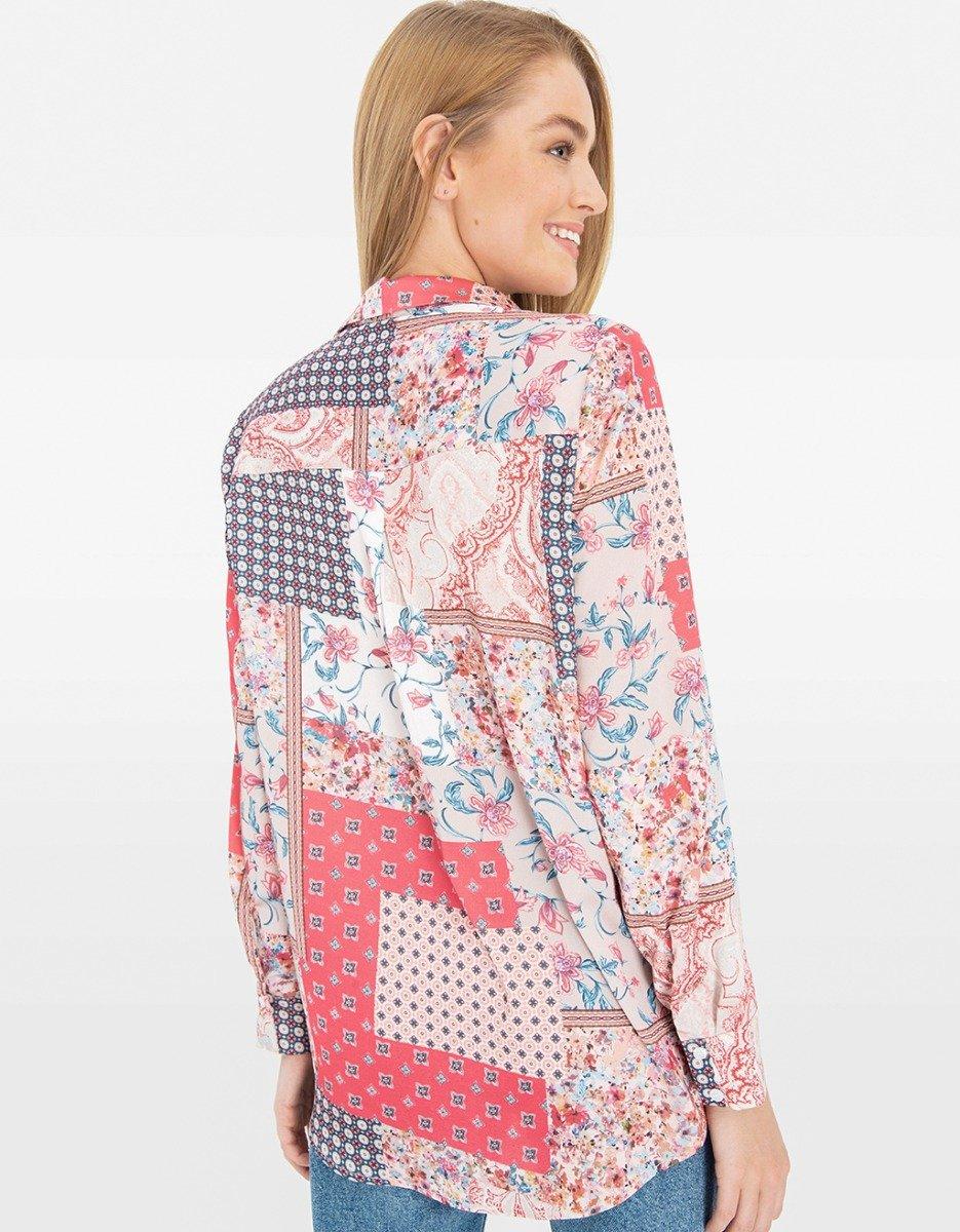 Pink Baroque Print Shirt