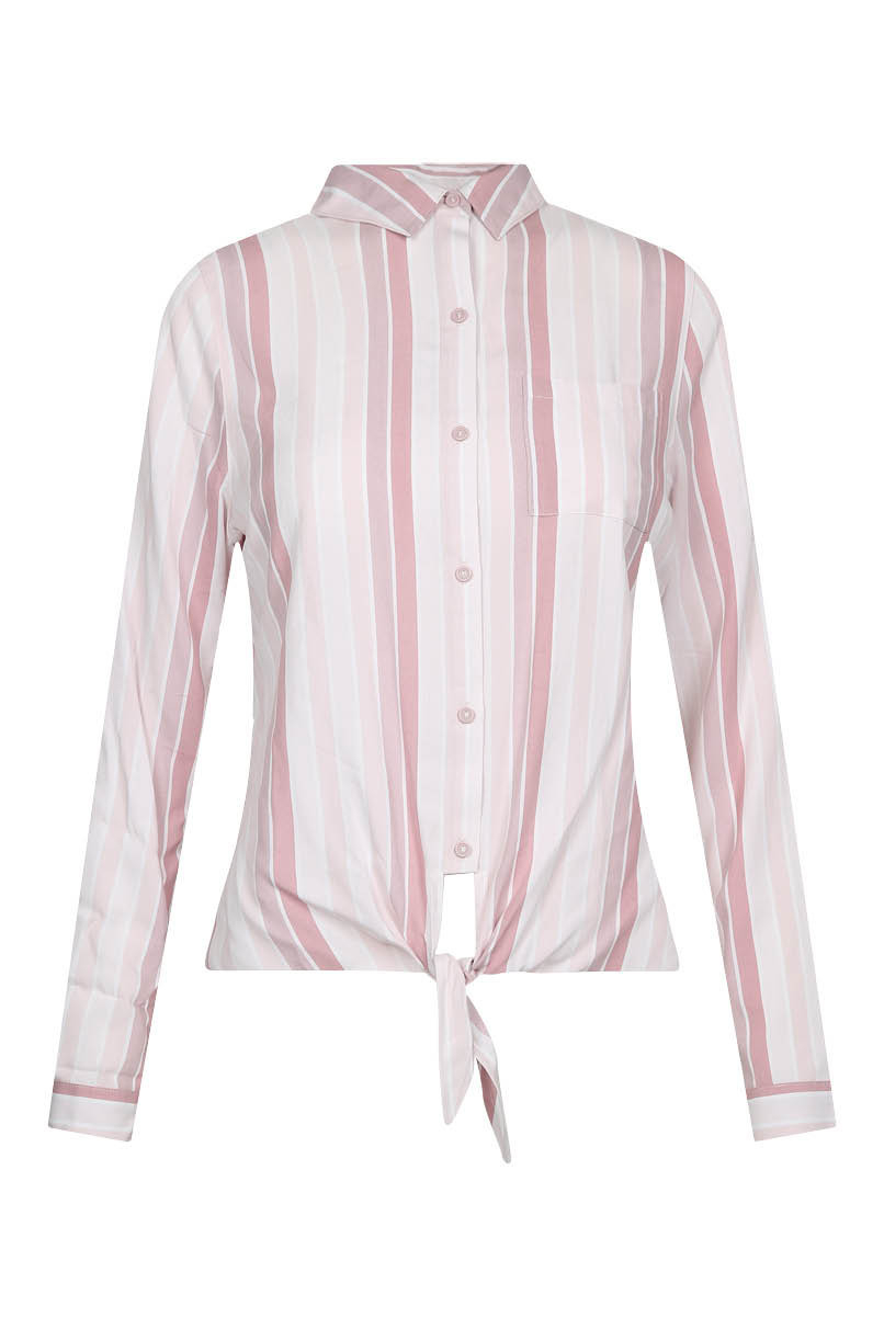 Pink Tie Front Shirt