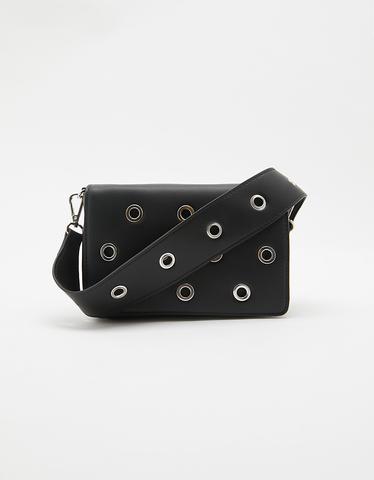 Black Eyelet Crossbody Bag