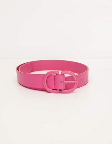 Pinker Gürtel mit D-Schnallen