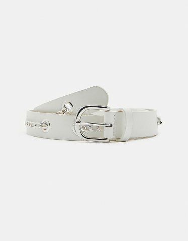 White Belt with Eyelets and Chains