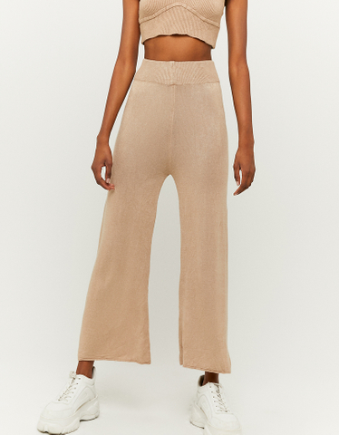 Ankle Flare Knitted Trousers
