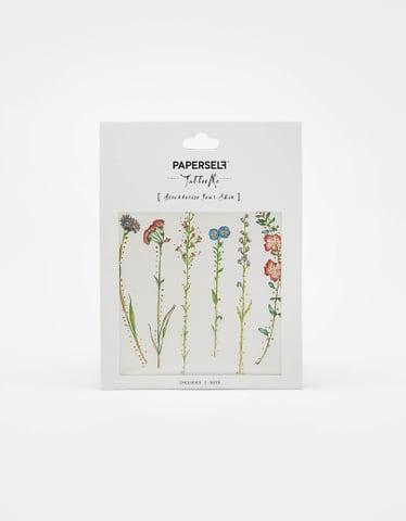 """""""Paperself"""" Blumen Aufklebetattoo"""