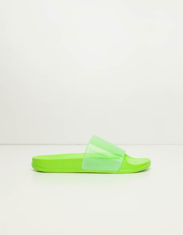 Neon Clear Strap Sliders