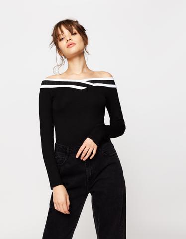 Black Criss Cross Bodysuit