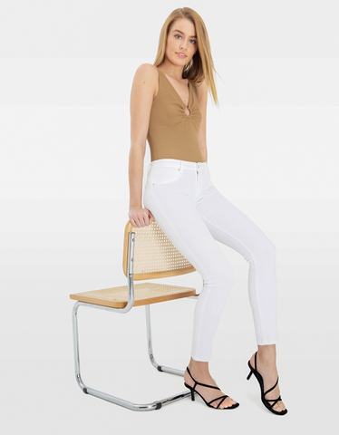 Beige Bodysuit with Ring