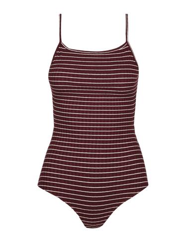 Burgundy Stripe Bodysuit