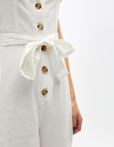 White Buttonned Jumpsuit