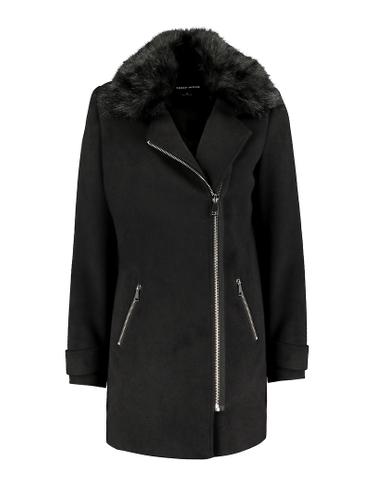 Black Side Closure Coat