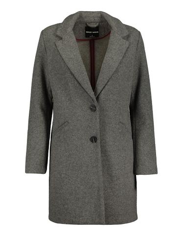 Grey Straight Fit Coat