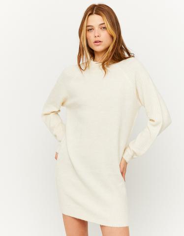 Vestito Bianco in Maglia