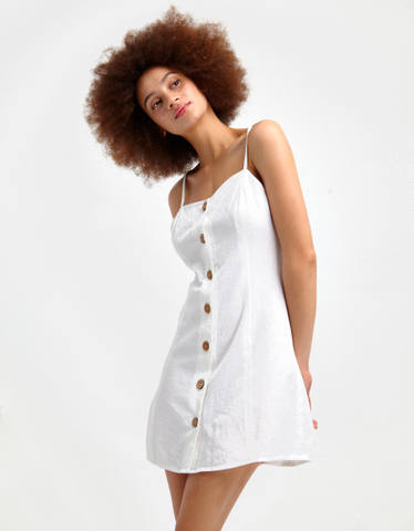White Buttonned Dress