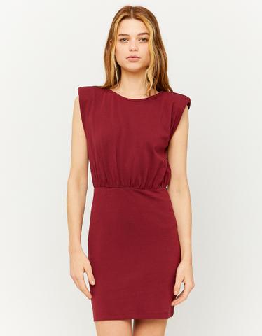 Kleid mit Schulterpolstern