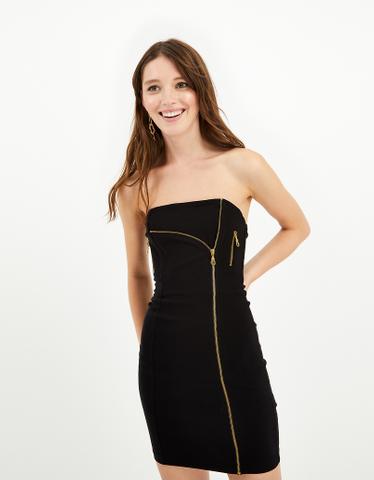 Schwarzes figurbetontes Kleid
