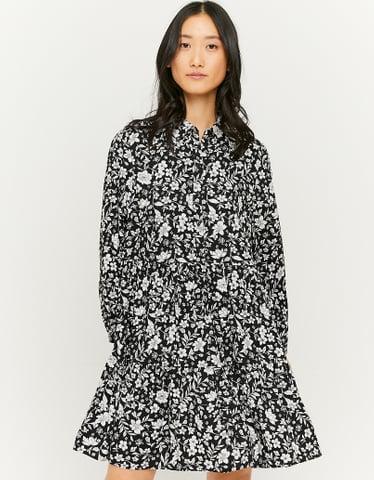 Robe-Chemise Imprimée Volantée