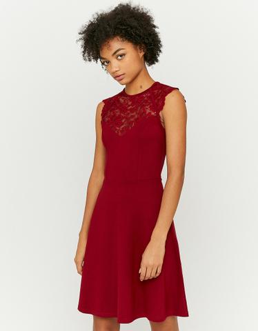 Lace Insert Skater Dress