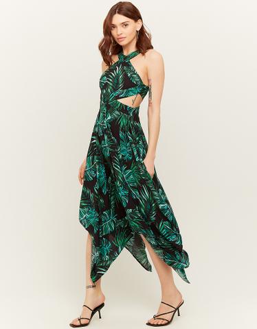 Kleid mit tropischem Aufdruck