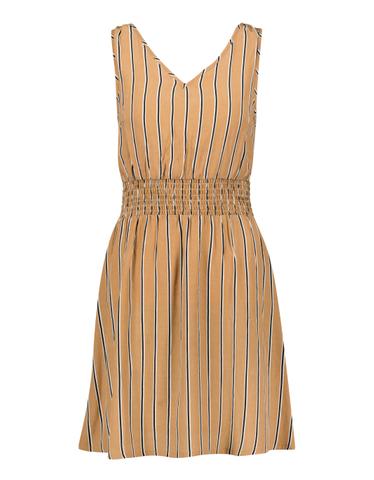 Beżowa sukienka w paski
