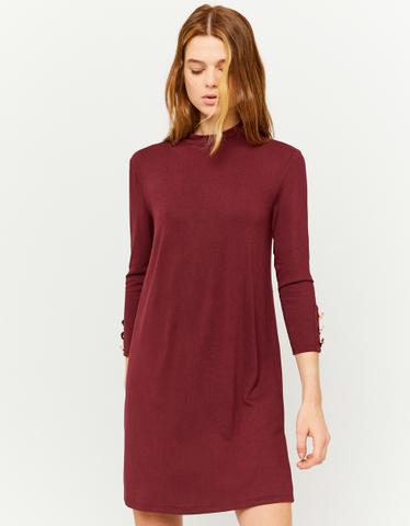 Bordeauxrotes Mini Kleid