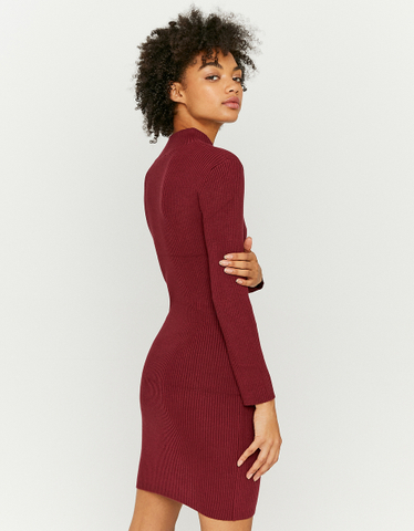 Robe Pull Courte Unie Manches Longues