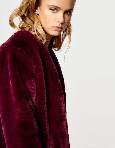 Burgundy Fluffy Jacket