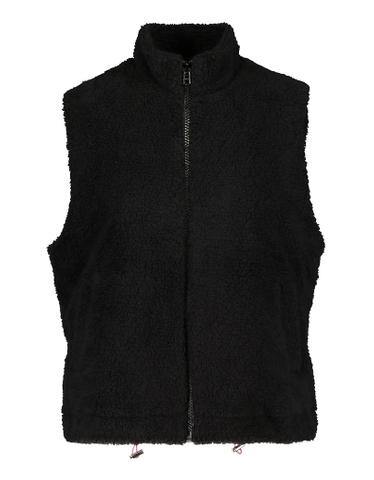 Schwarze Jacke aus Fleece