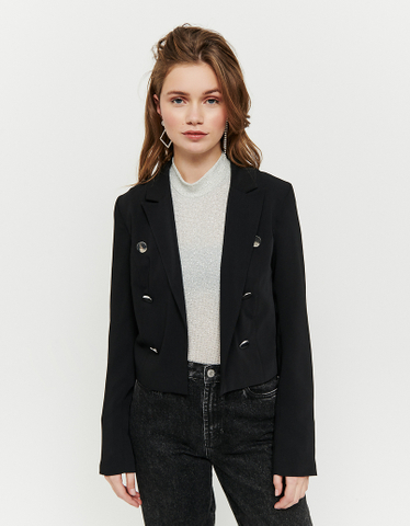 Cropped Black Blazer