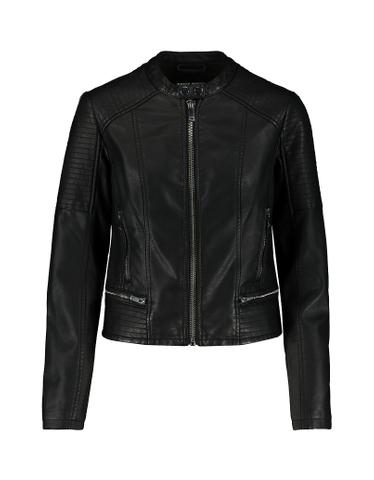 Faux Leather Zip Detail Jacket