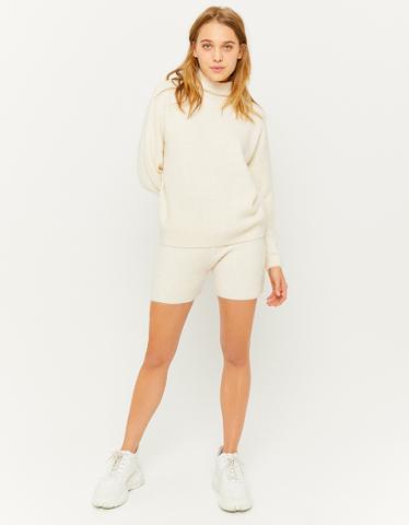 Beige Knitted Short