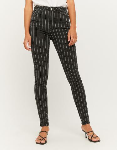 Black High Waist Skinny Trousers