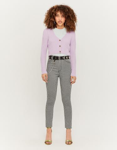 Pantalon Skinny Imprimé Vichy