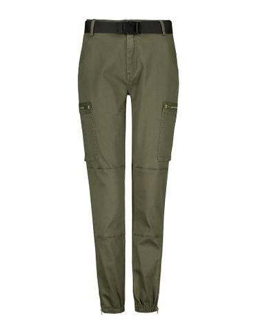 Khaki Belted Cargo Pants