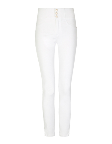 White Very High Waist Skinny Trousers
