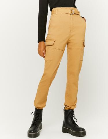 Pantalon Cargo Taille Froncée