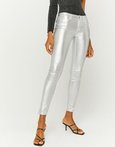 Silberfarbene Hose