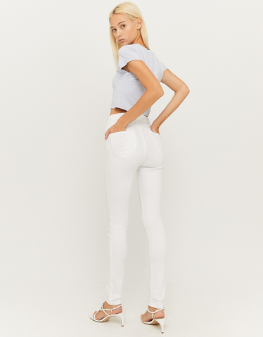 White High Waist Push Up Trousers