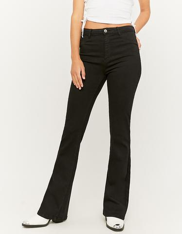 Black High Waist Flare Jeans