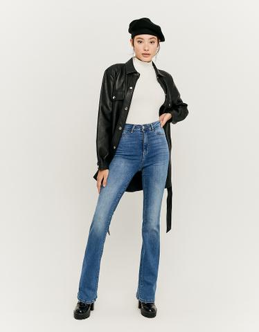 Jean Skinny Flare Taille Haute