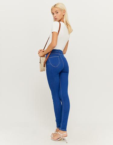 Blaue High Waist Push Up Jeans