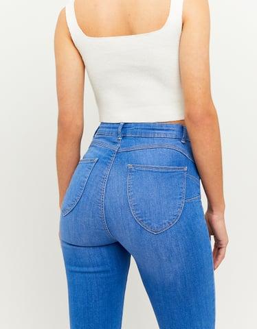 Jeans Push Up a Vita Alta Blu