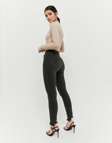 High Waist Destroy Skinny Jeans