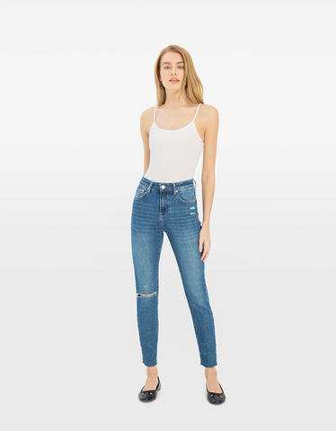 Mom Slim Mid Waist Jeans